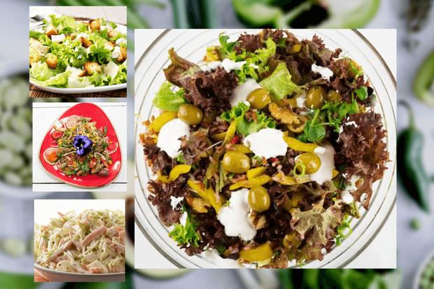 ბოსტნეულის სალათები