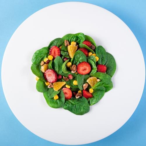 სალათი სიმინდი ბიოთი და ხილით