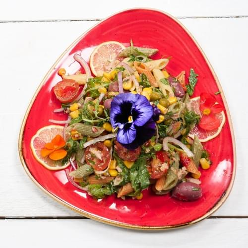 მექსიკური სალათი მაკარონითა და თინუსით