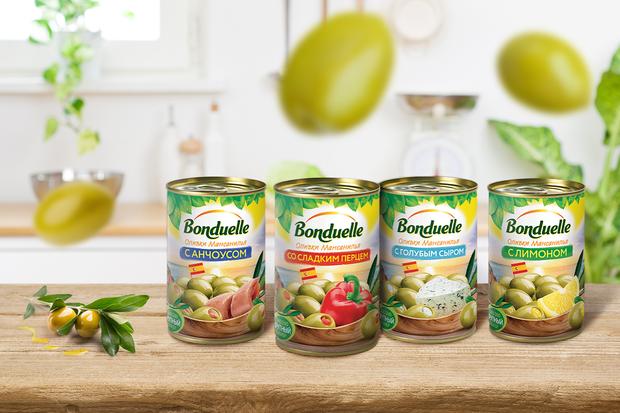 Откройте для себя новые фаршированные оливки от Bonduelle
