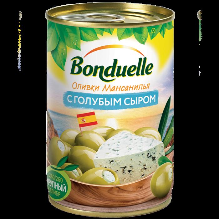 Оливки Мансанилья с голубым сыром