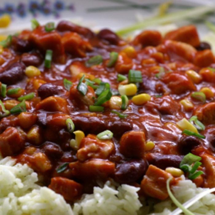 Рис с фасолью по-карибски